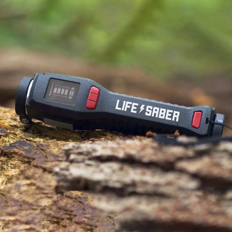 LIFESABER – Power Supply For Wilderness Survival