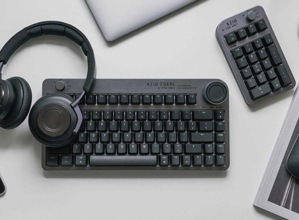 Azio Fokal – Keyboard with Customizable Control Knob id=