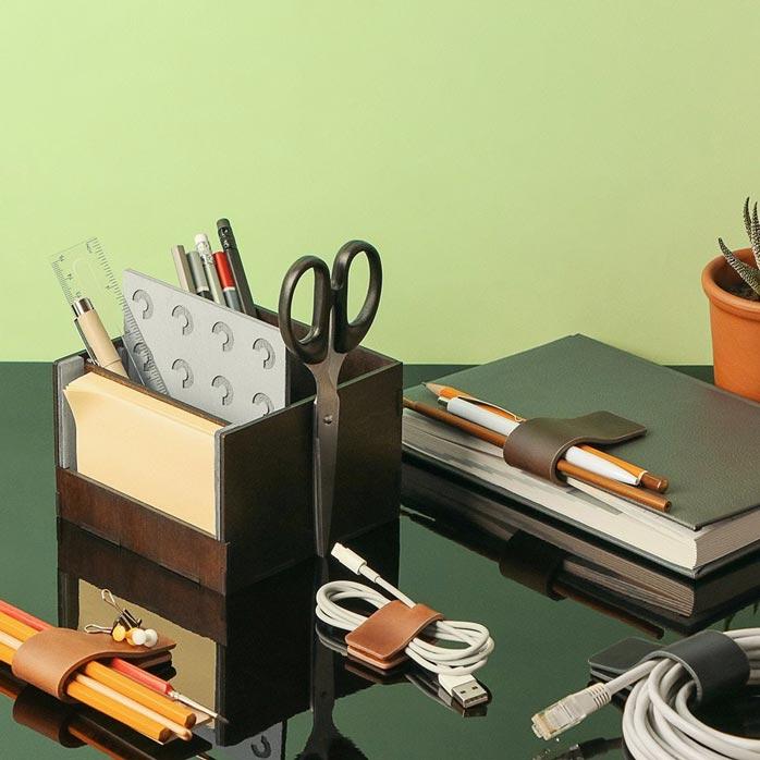 Clio Magnetic Leather Organizer