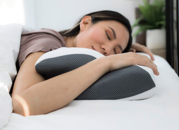 Carbon SnoreX Anti Snore Cooling Pillow id=