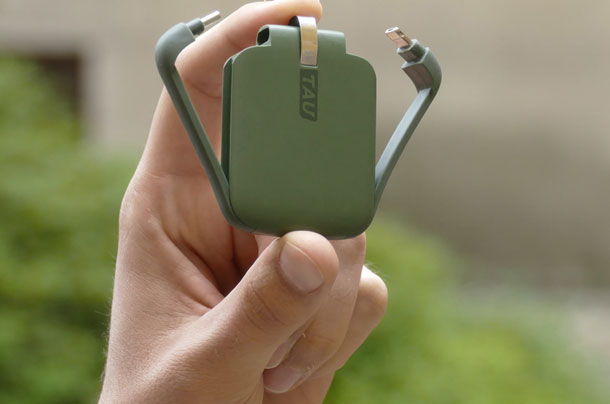 TAU the smallest power bank which you will never forget to charge id=
