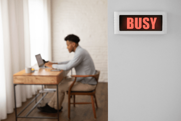 BusyBox SMART INTERRUPTION FREE WORK SIGN id=