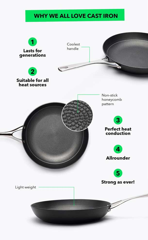 lightweight cast iron from crowd cookware